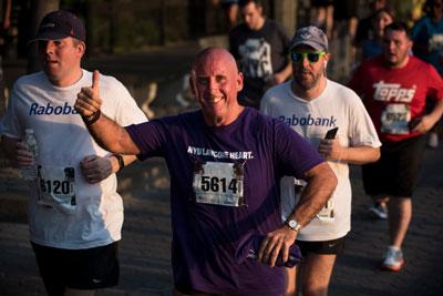 Peter enjoying the race