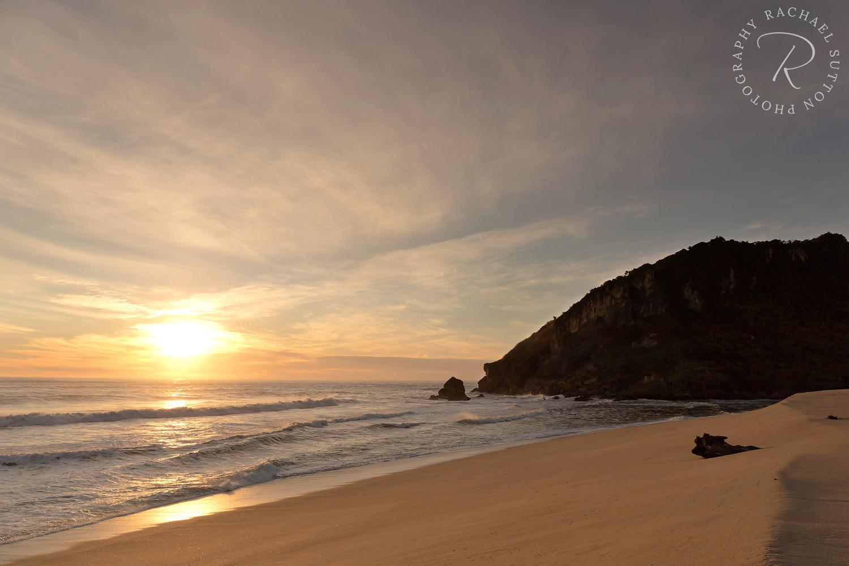 Sunset West Coast Kahurangi National Park NZ