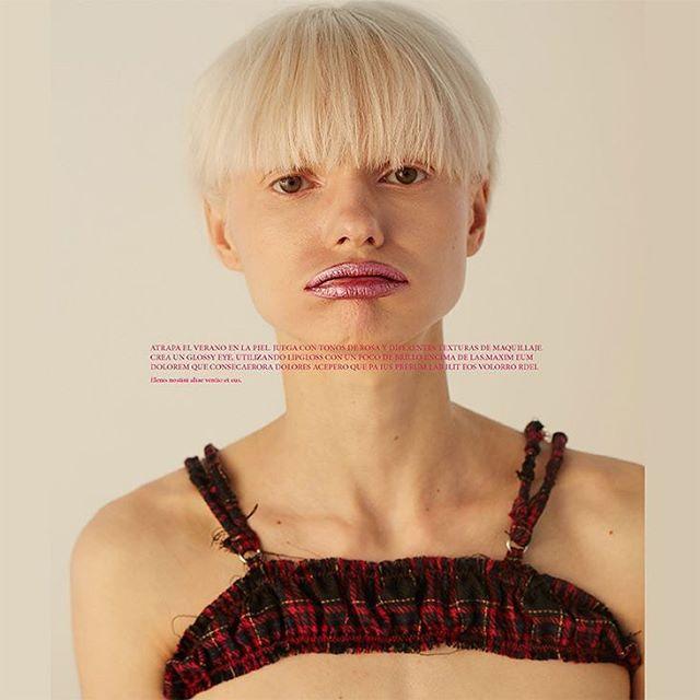 TGIF! Eyeshadow on lips for xtra gloss 💄💋 #glossylips @elle_mexico shot by @johanakimphotography mua @anagdev pelo @manueloliva10estilismo @jimmy_hrrr model @noravai @wantedmodelsagencyproducido por @ximenamorfinassistant @quetzal_em •⠀ •⠀ •⠀ #magazine #editorial #beauty#ellemexico #elle #ellebeauty#models #fashion #makeup#fashionphotography #shotbyme#inspiration #cover#madeinmexico