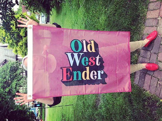 It's #owefest19 and it's time to let your #freakflagfly! Thanks to @jupmode for the awesome new flag!!! #owefest #owefestival #owefestival2019 #oldwestend #victorian #neighborhood #toledo #toledoohio #party #goodtimes