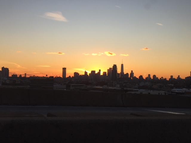 Sunset same day in Manhattan