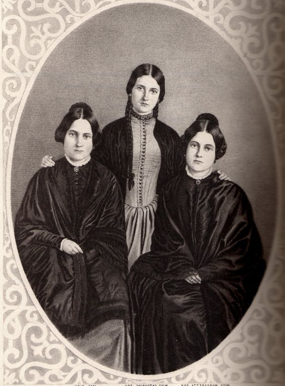 The Fox Sisters: Leah, Kate and Maggie (left to right)