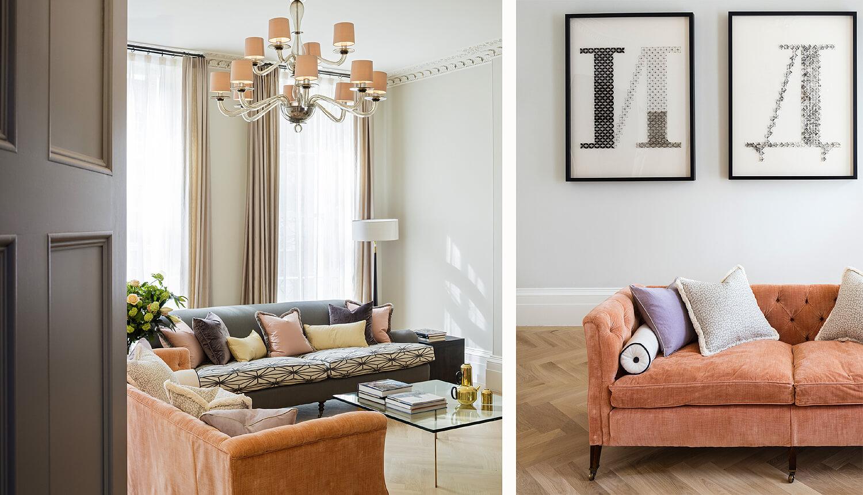 Emily Bizley Interior Design London House lounge