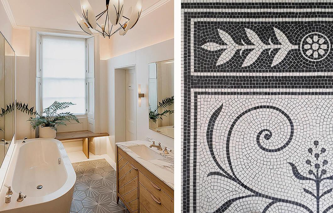 Emily Bizley Interior Design London House Bathroom detial