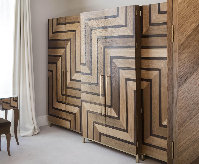 Emily Bizley Interior Design London House bespoke wardrobe