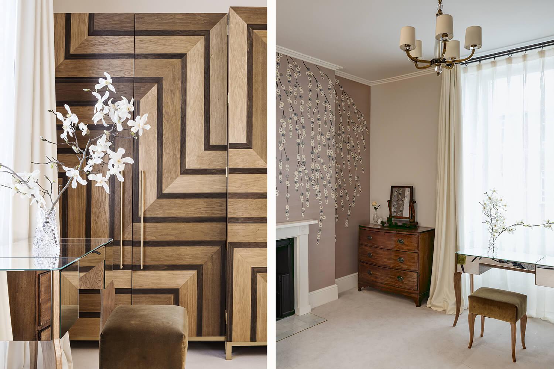 Emily Bizley Interior Design London House bespoke wardrobe detail