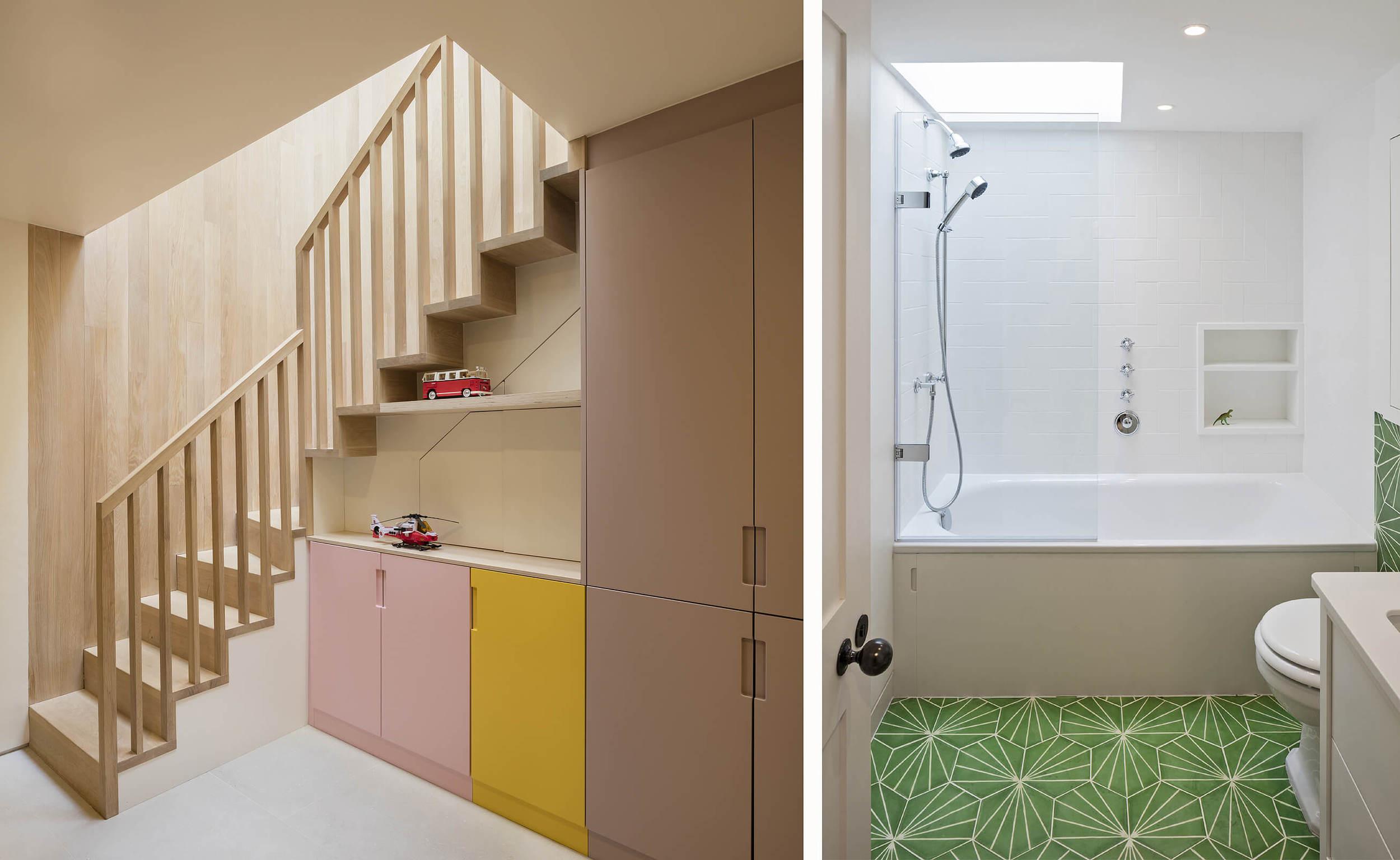 Emily Bizley Interior Design London House bespoke storage stair