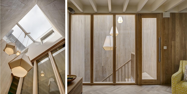 Emily Bizley Interior Design London House stair light