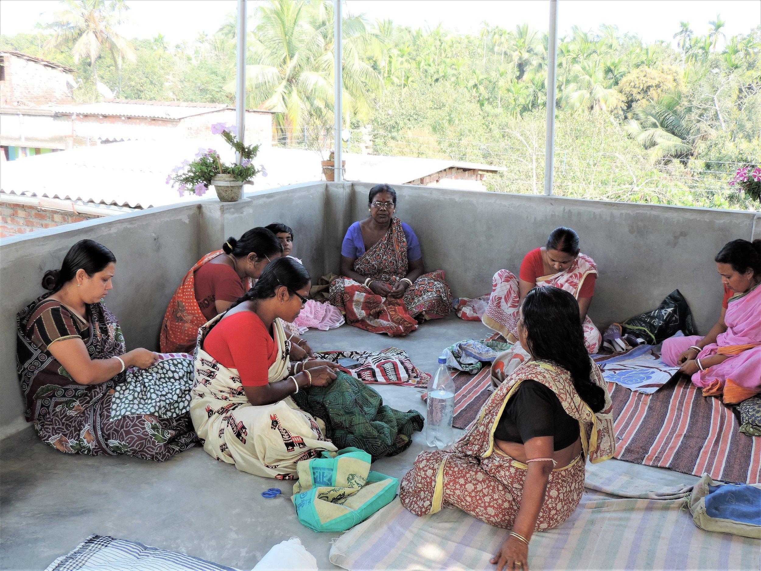 Kantha Artisans at work