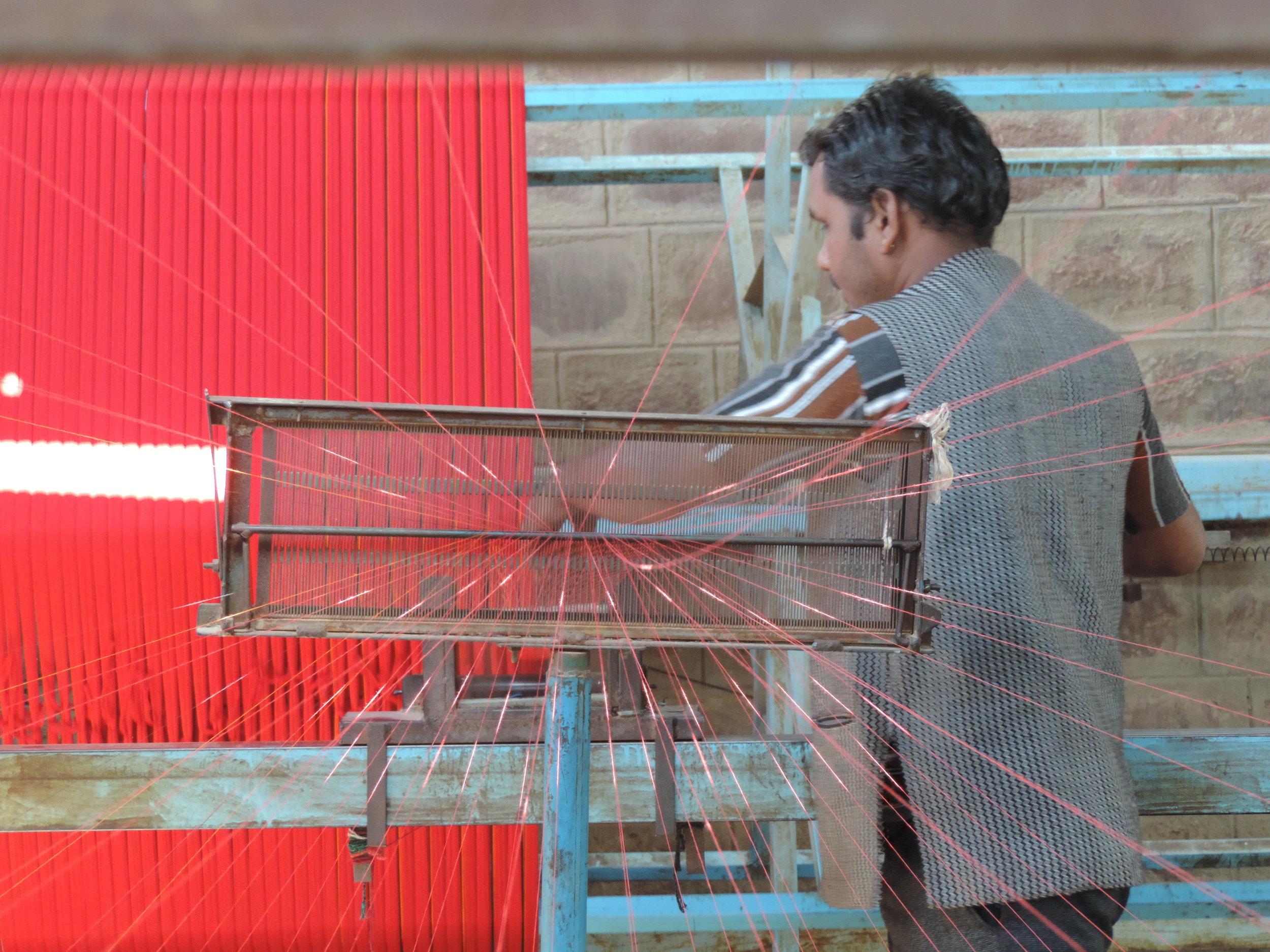 Spinning threads of Yarn
