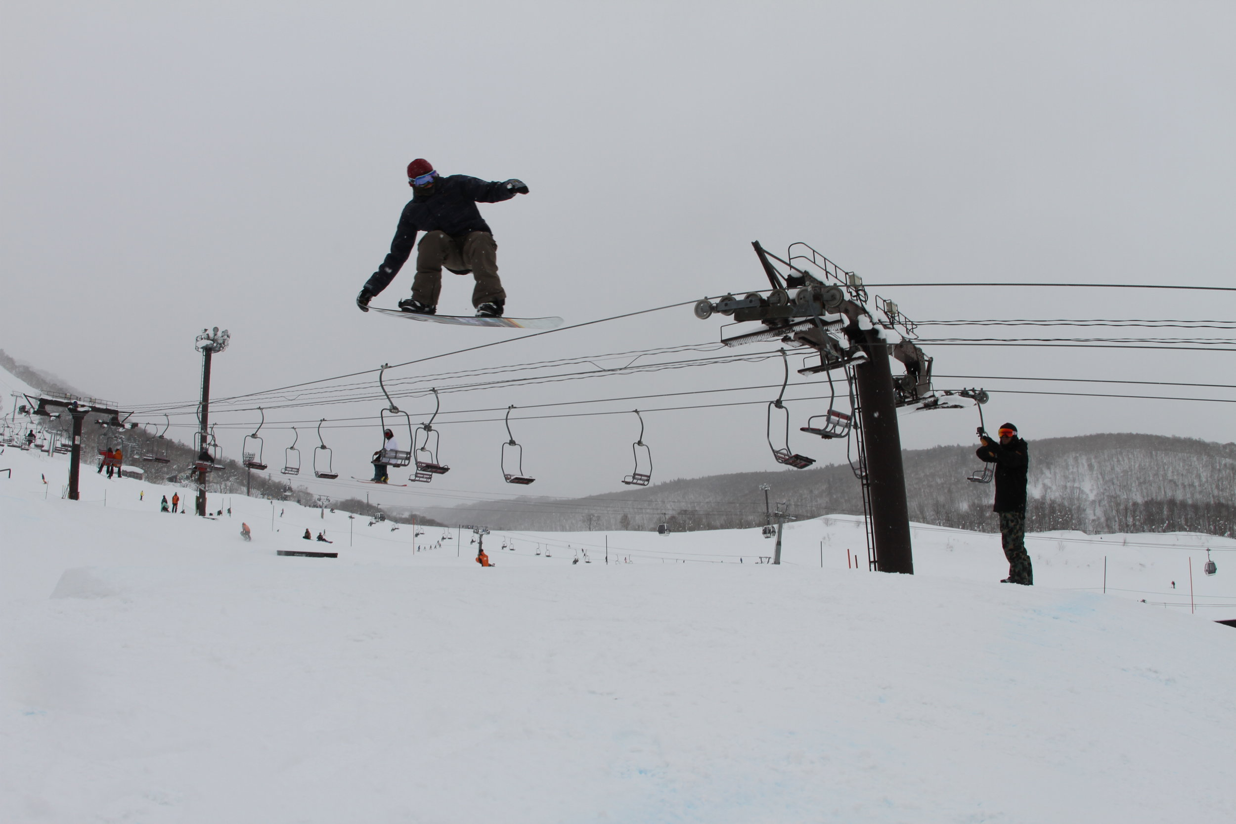 King Park - Hirafu  - Even though we were getting some more amazing powder throughout week two there was definitely a bit more of a focus on Park. With crew hitting the larger Park jumps for the first time and new tricks been put down on the rails the vibes were high.