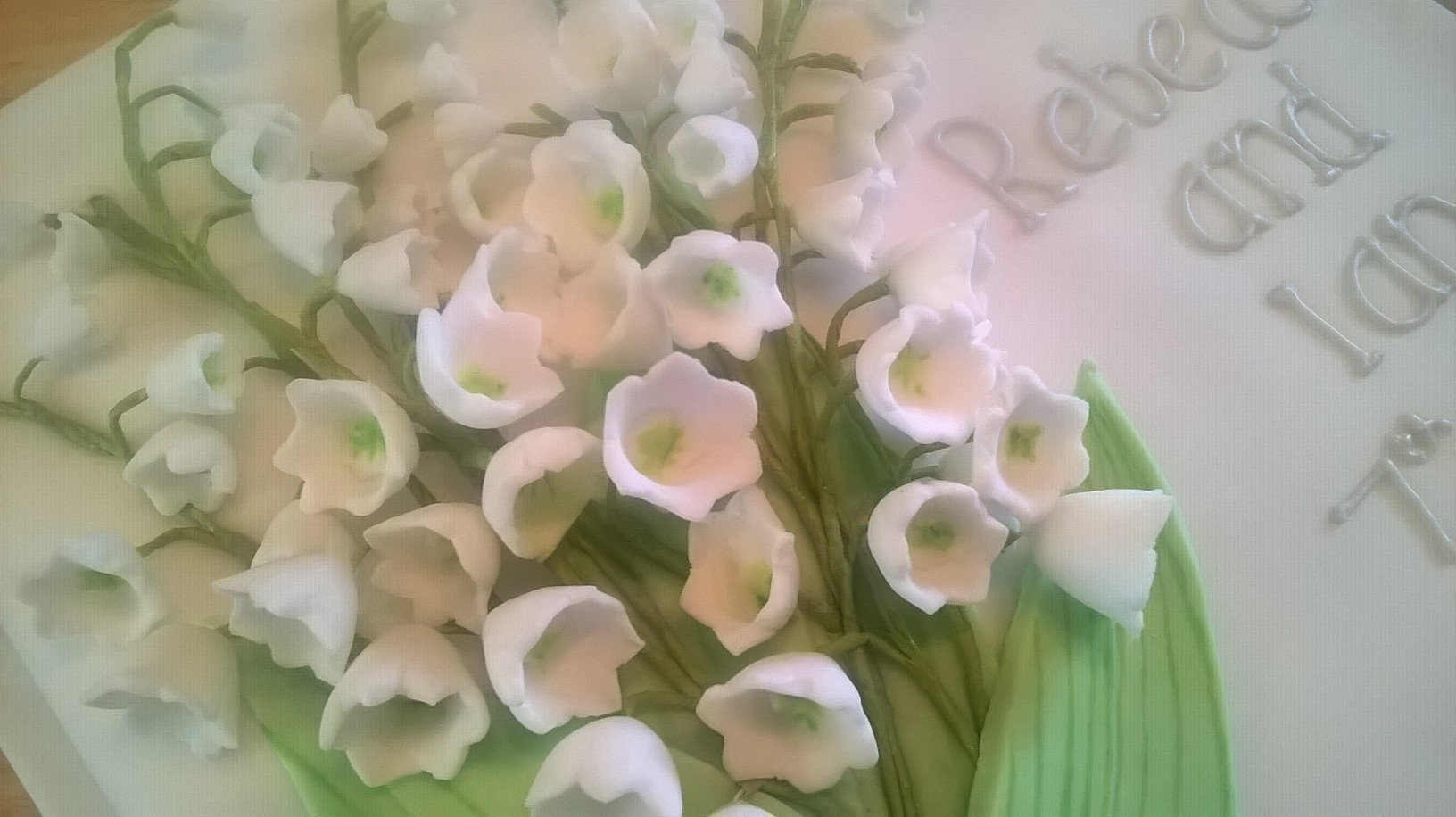 Close up of the lily of the valley flowers
