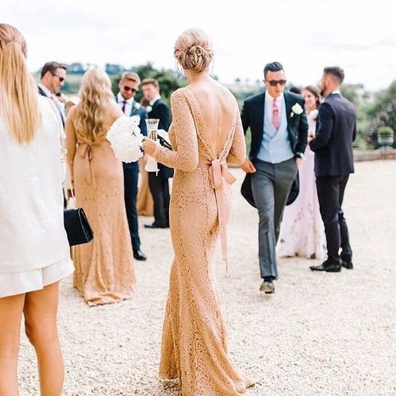 Alara gown in Tan at Pynes House - Photo:  Amy O'Boyle