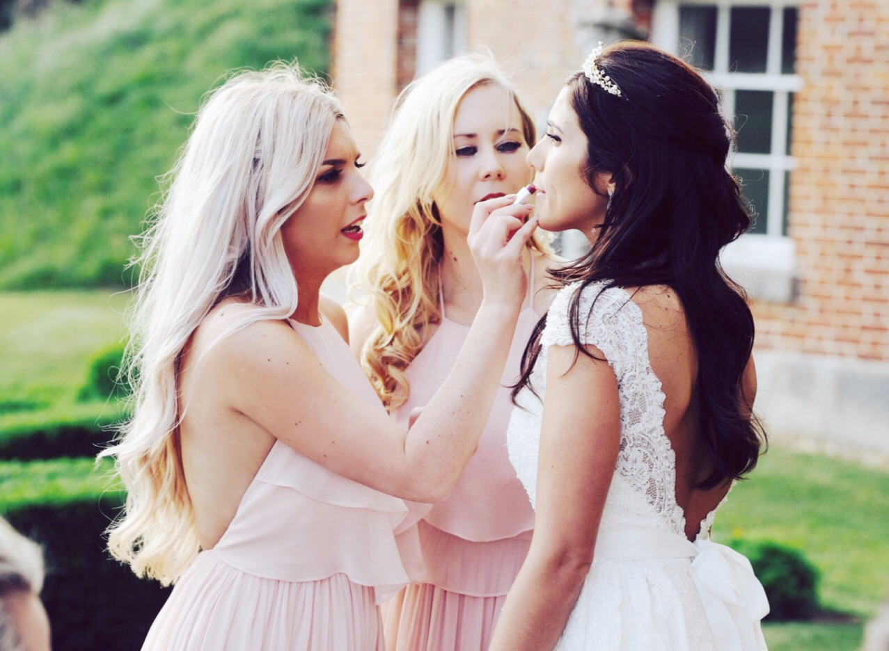 TH&TH Privé for beautiful bride Amanda and Olympia in Blush for her maids. Photo - Stuart MacFarlane