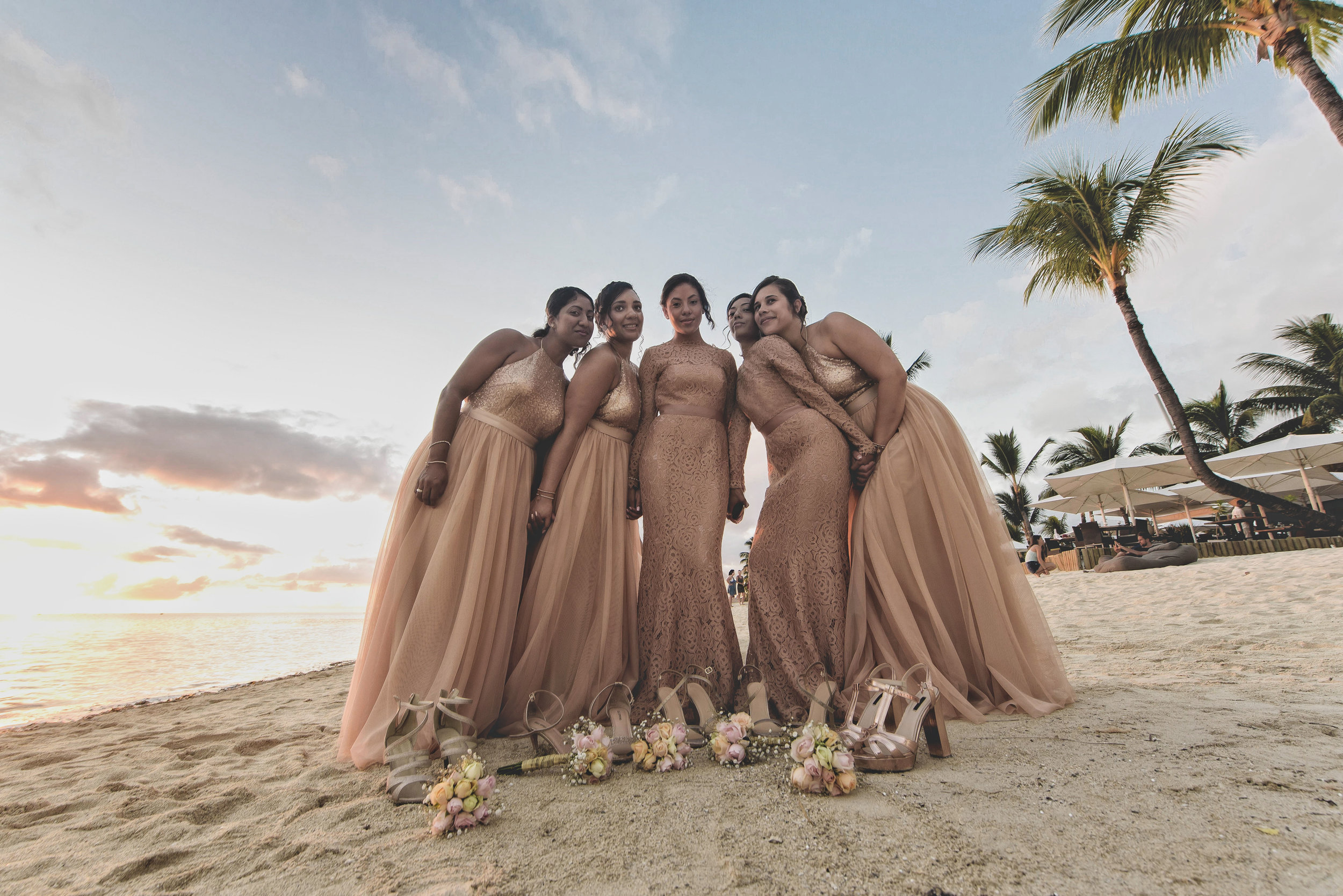 A combination of Alara in Tan and TH&TH Privé for Frankie's incredible Mauritian wedding