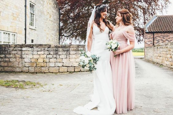 Bardot in Smoked Blush  for Laura's maid of honour. Photo  -   Leanne Jade Photography