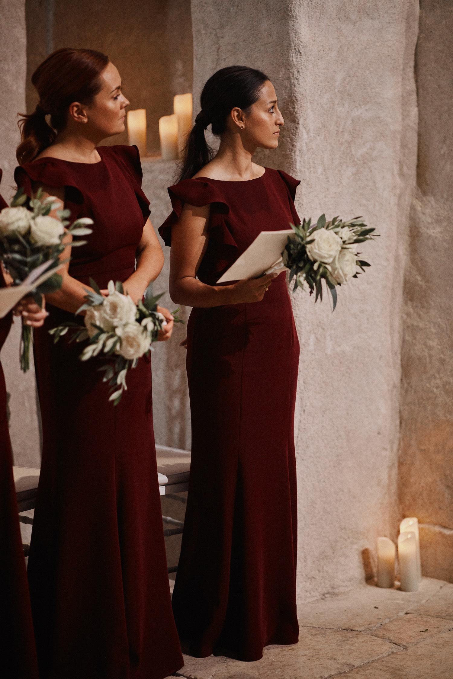 Jess's stunning bridemaids wearing  Cecelia in Roseberry  - Photo  Benjamin Wheeler