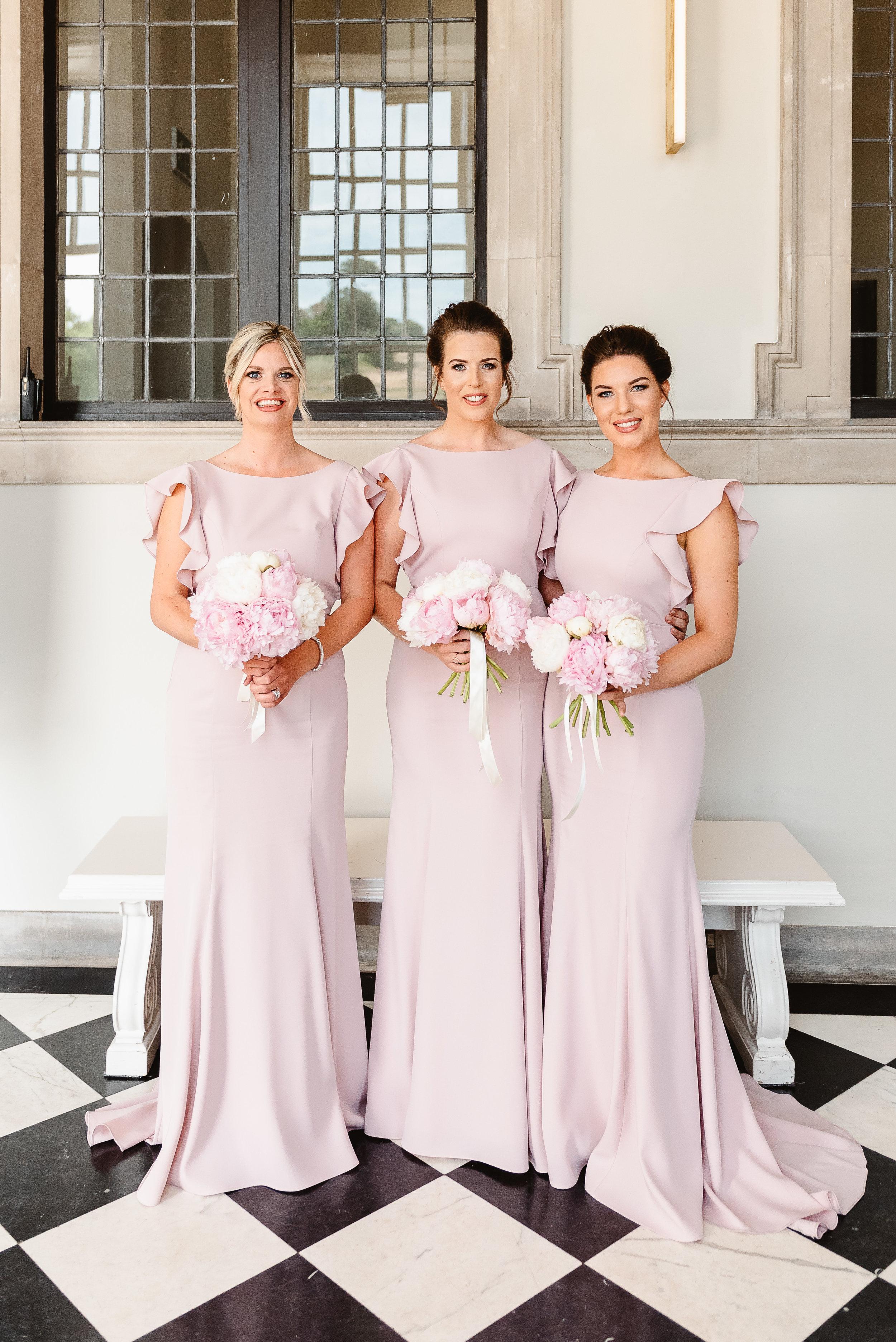 Ashlea's beautiful bridal party wearing  Cecelia in Smoked Blush  - Photo  Fiona Kelly Photography