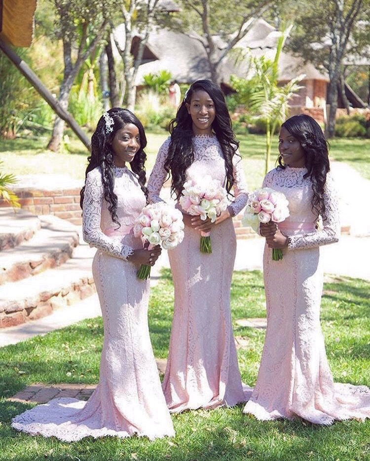 The most beautiful image of our Alara gown in blush for Sarah's bridesmaids - Photo  Pict  ure Hub