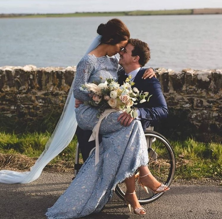 Stunning bride Leona wearing our Alara gown in bluebird - Photo  Wild Things Wed
