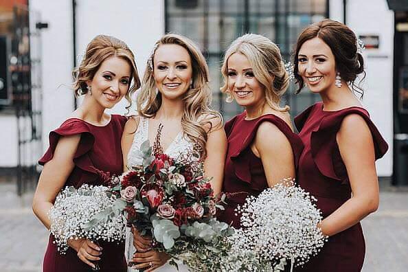 Beautiful bride JV and her best girls wearing  Cecelia in Roseberry  - Photo  Karol Makula