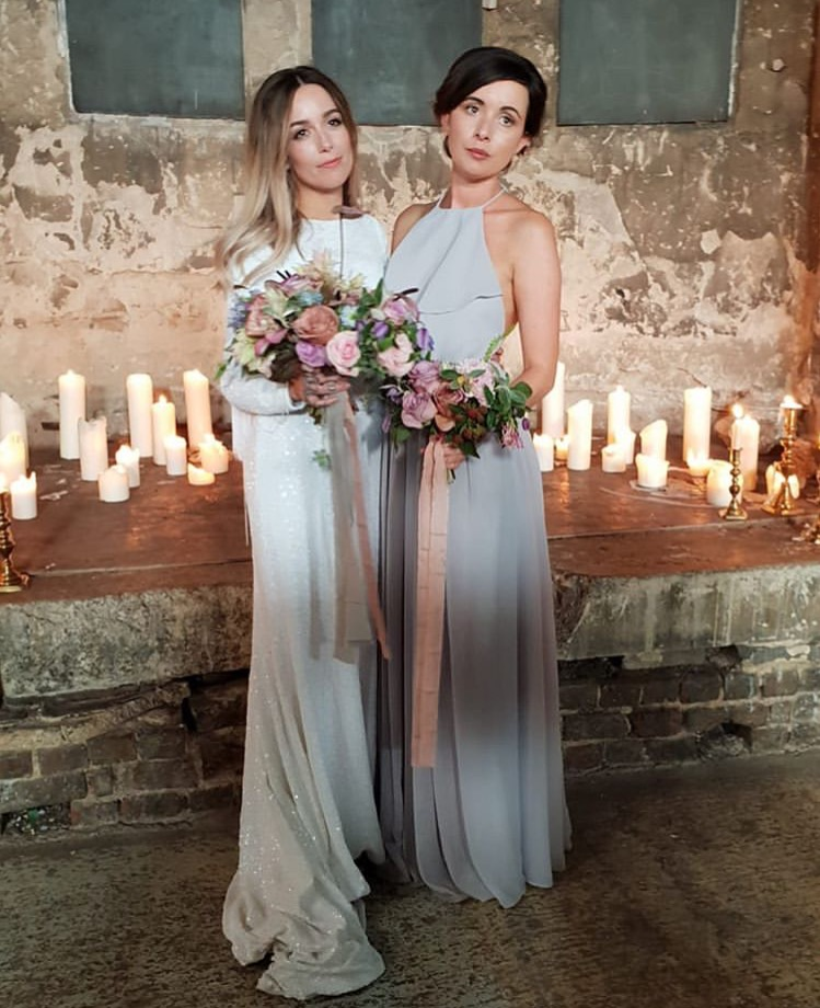 Olympia in Silver Mist for Kiri's gorgeous bridesmaid.