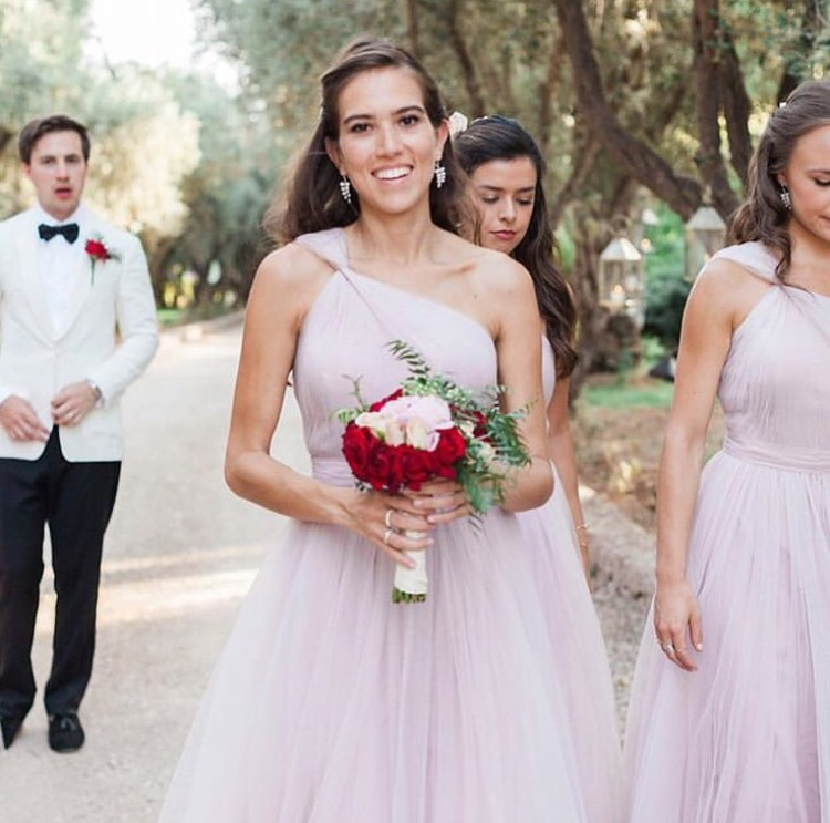 The most beautiful bridesmaid wearing Luna in Smoked Orchid - Photo Maria Rao
