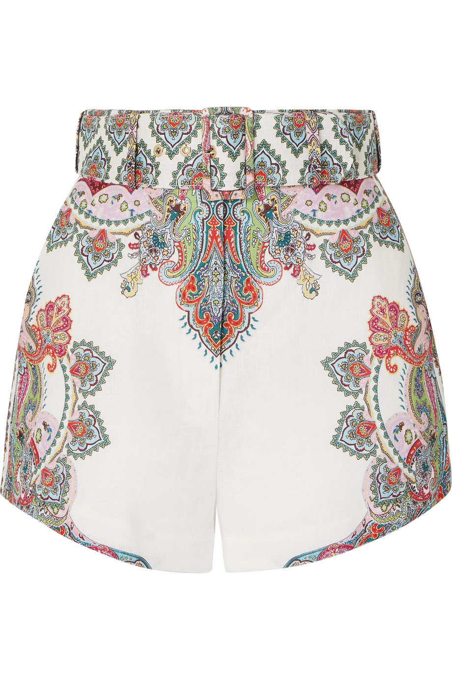 Ninety-six belted printed linen shorts £395