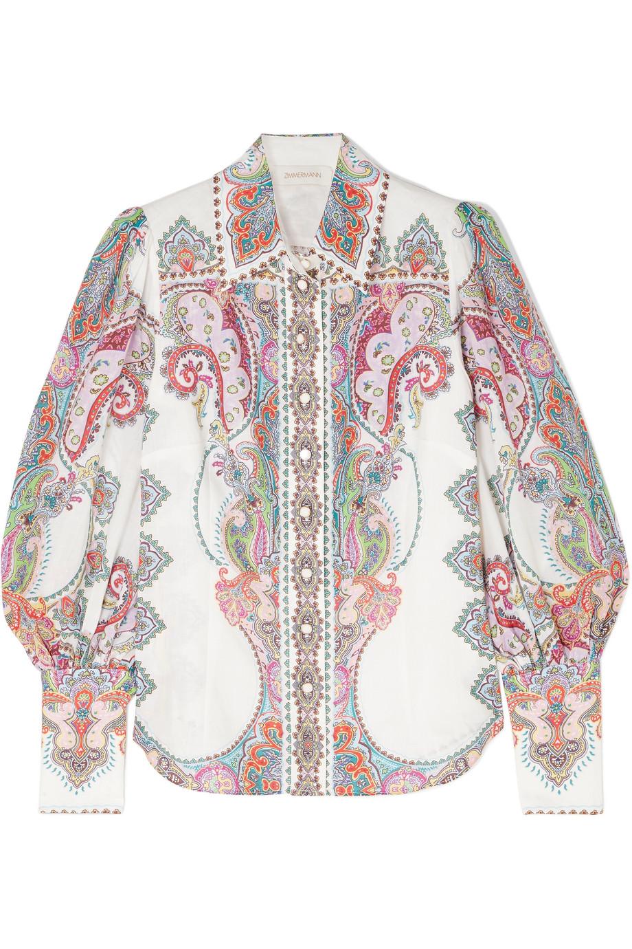 Ninety-six printed ramie shirt £430