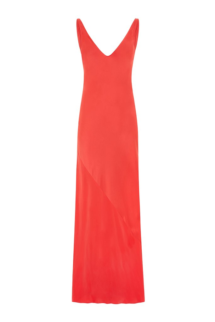 The Cannes Do - Coral Satin - £415