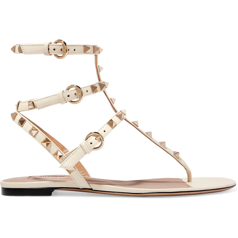 The Rockstud leather sandals - £580