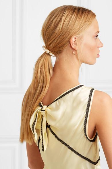 JENNIFER BEHR  Perla gold-plated Swarovksi pearl hair tie  £195.00