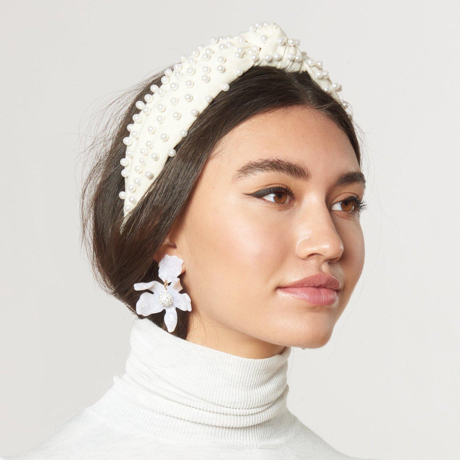 LELE SADOUGHI  Ivory Woven Pearl Headband  £118.00