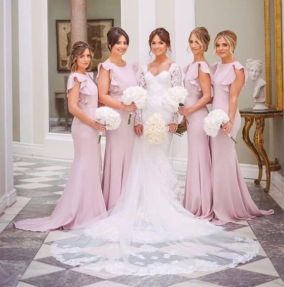 Beautiful Claire and her best girls wearing  Cecelia in Smoked Blush  - Photo  2 Tone Photography