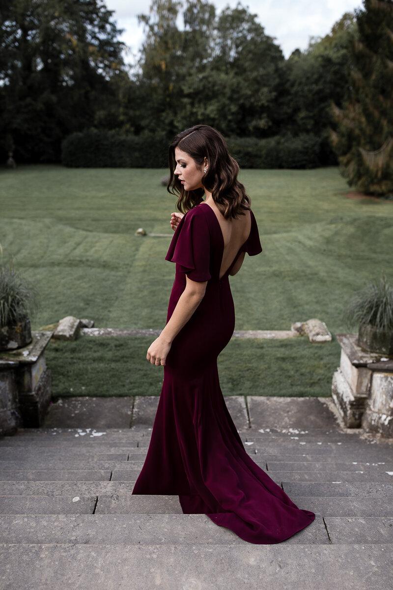 Celeste Gown in Roseberry