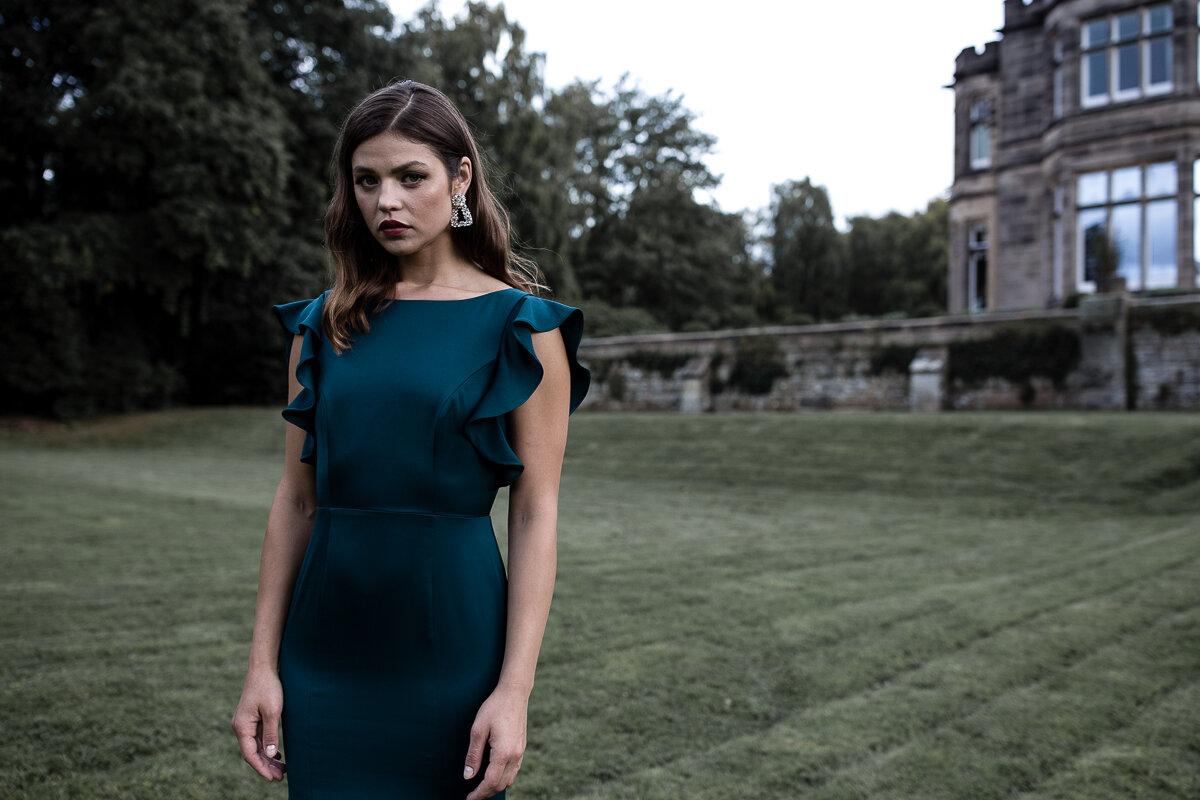 Cecelia Crepe Luxe in Emerald