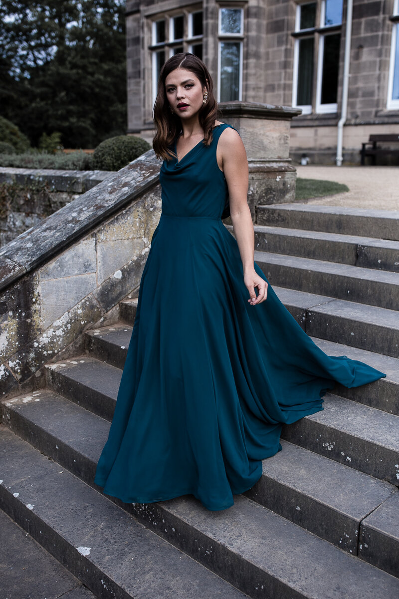 Athena gown in Emerald