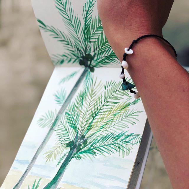 Palmtrees on my mind . . . #aquarel #palmtreelove #palmillustrations #vacation #plants #palmboom #sketch #illustration #travel #natureillustration #textiledesign #illustratie #waterverf #antwerp #illustrationart #illustree #lauramuls #belgianillustrators