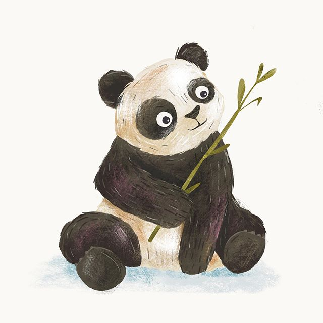 Baby panda's are born pink and measure about 15cm, that's the size of a pencil ✏️ Congratz with the twins @pairidaizaofficial . . . #panda #babypanda #bamboo #animal #wildlife #animalproject #illustration #procrate #animalillustration #pandasofinsta #pandaillustration #sketch #antwerpen #toddlerroomdecor #artforchildren #lauramuls