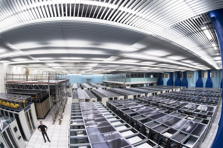 """CERN Computer Center, from ZDNet report, """"Inside the Large Hadron Collider: How IT powers the greatest experiment in history,""""3/12/15"""