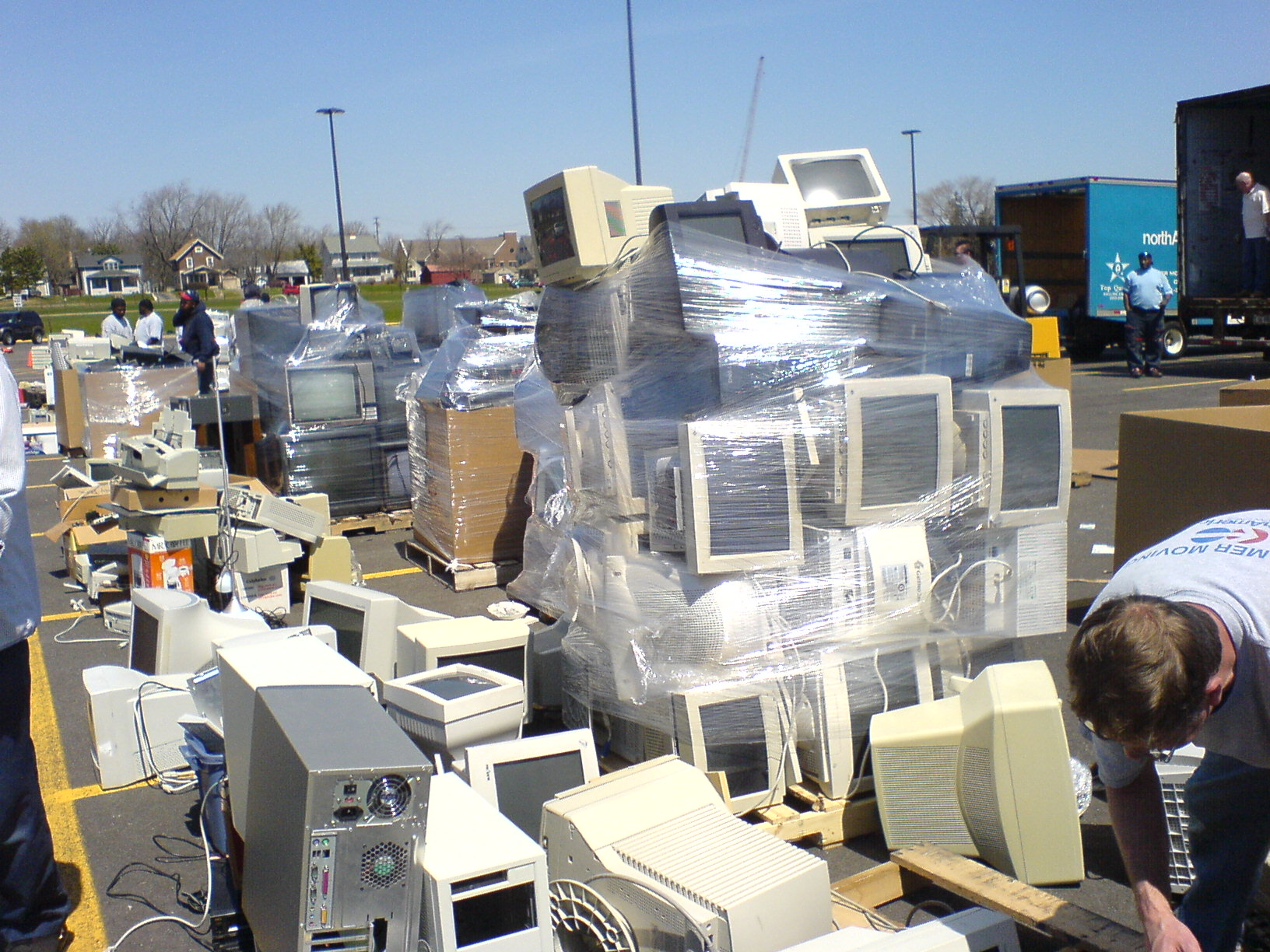 Photo credit: By George Hotelling from Canton, MI, United States (E-waste recycling in Ann Arbor) [CC BY-SA 2.0 ( https://creativecommons.org/licenses/by-sa/2.0) ], via Wikimedia Commons