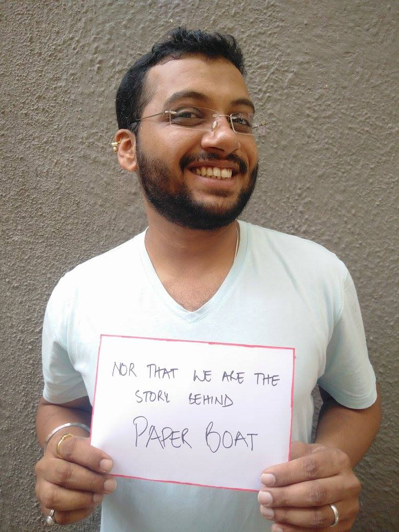 """""""Nor that we are the story behind  #PaperBoat """""""