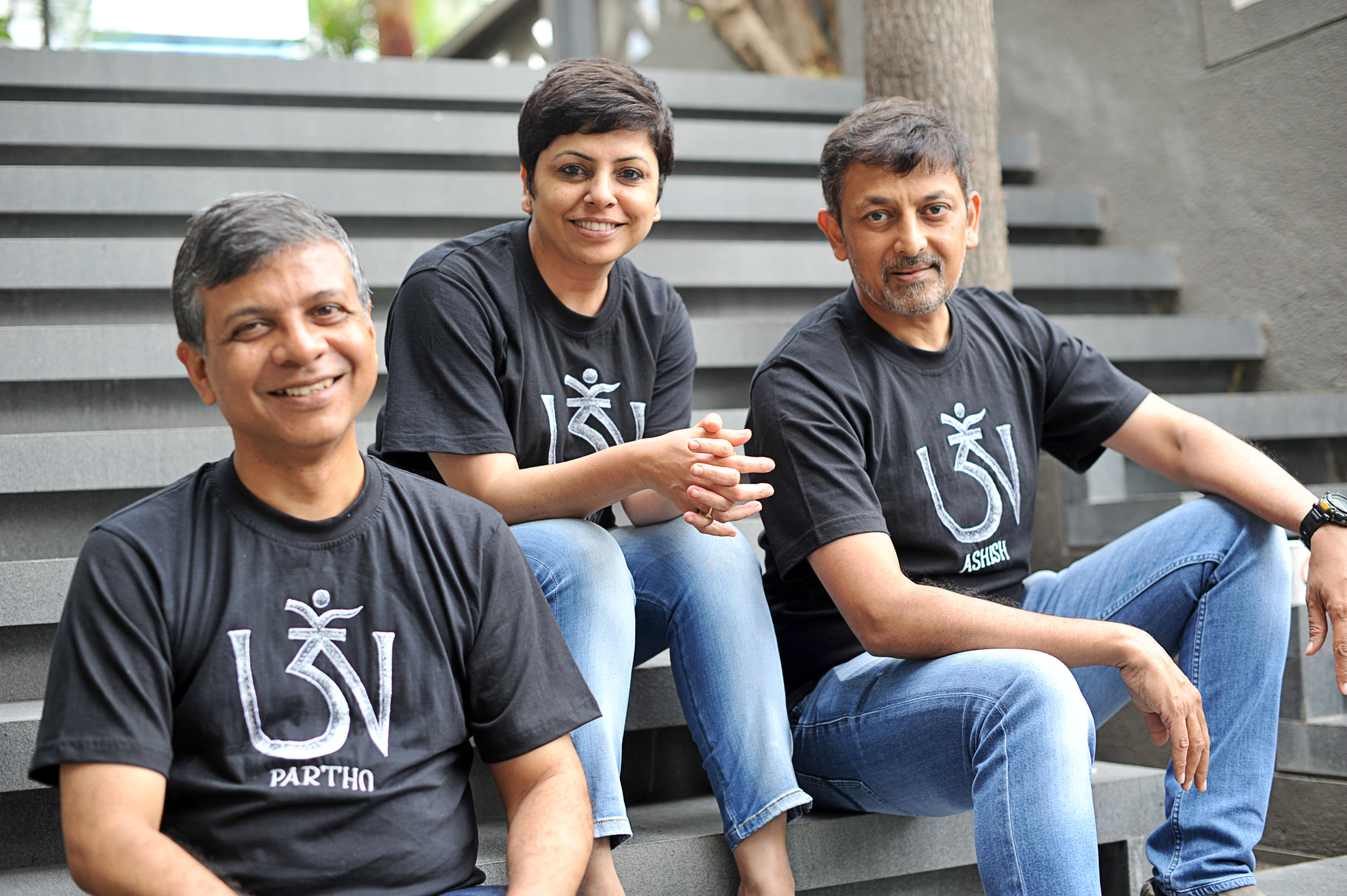 (L-R) Partho Guha, Ashwini Deshpande & Ashish Deshpande
