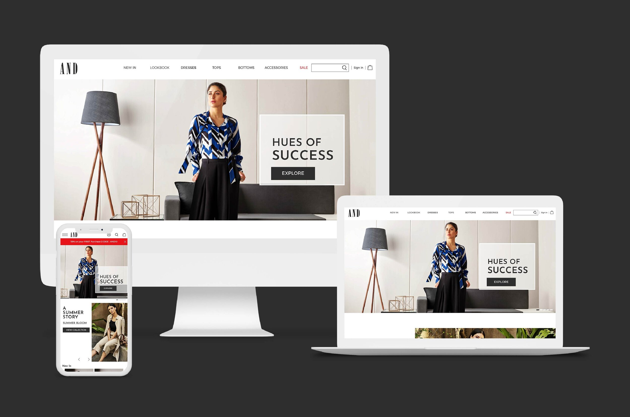 ONLINE BRAND EXPERIENCE FOR FASHION-CONSCIOUS WOMEN