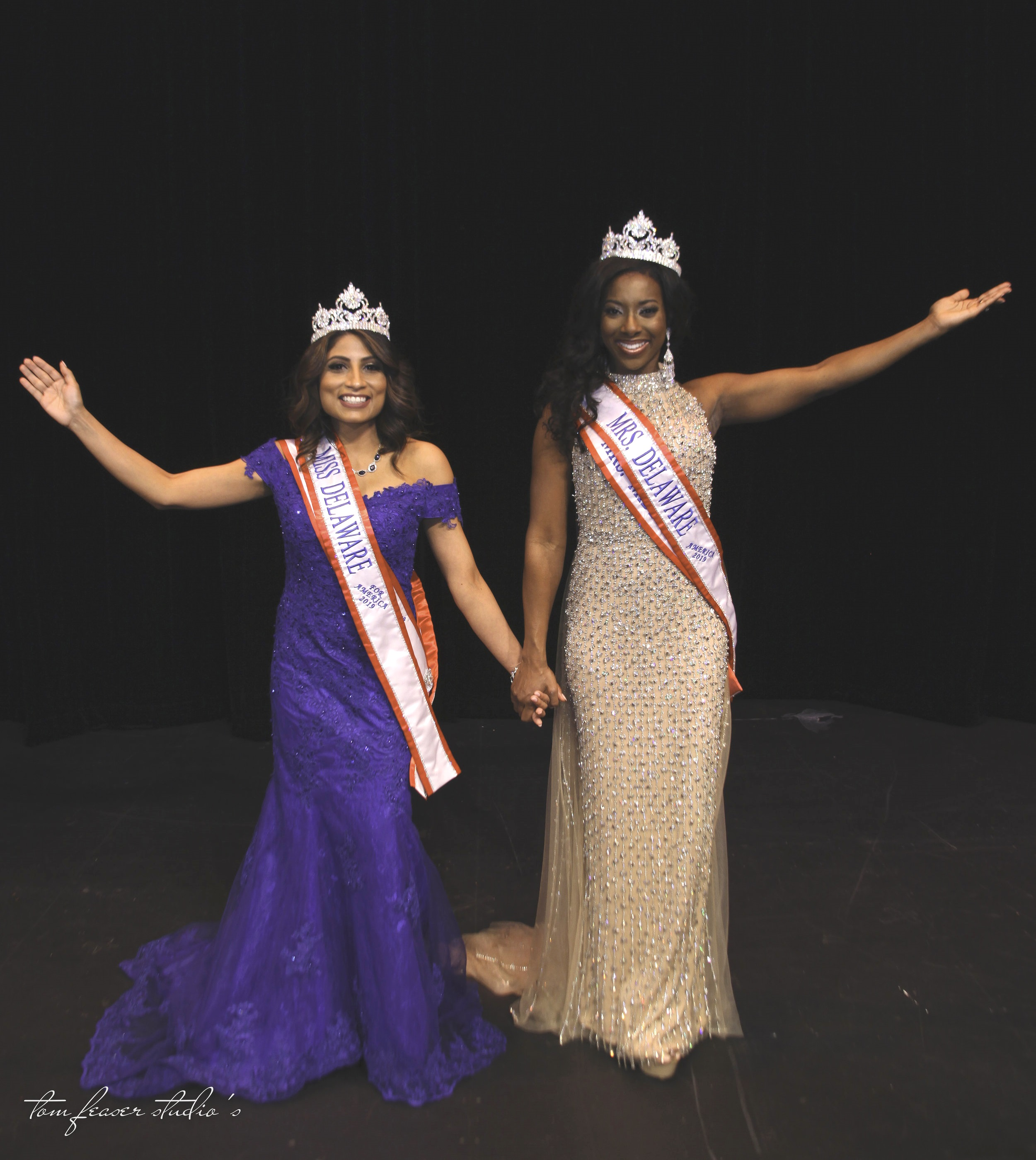 Miss Delaware for America and Mrs. Delaware America 2019 were crowned on Saturday night at the Grand Opera Theater in Wilmington, Delaware. Photo by Tom Feaser Studios.