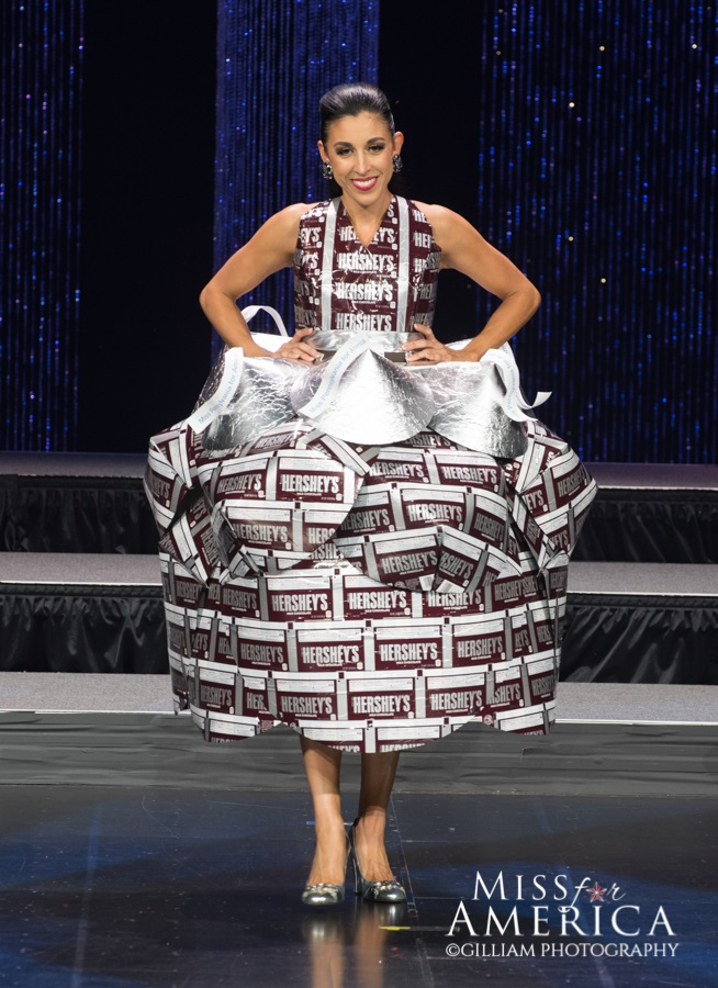"""Miss PA for America, Mindy Jo Miller wins """"Most Whimsical Costume""""  at Miss for America."""