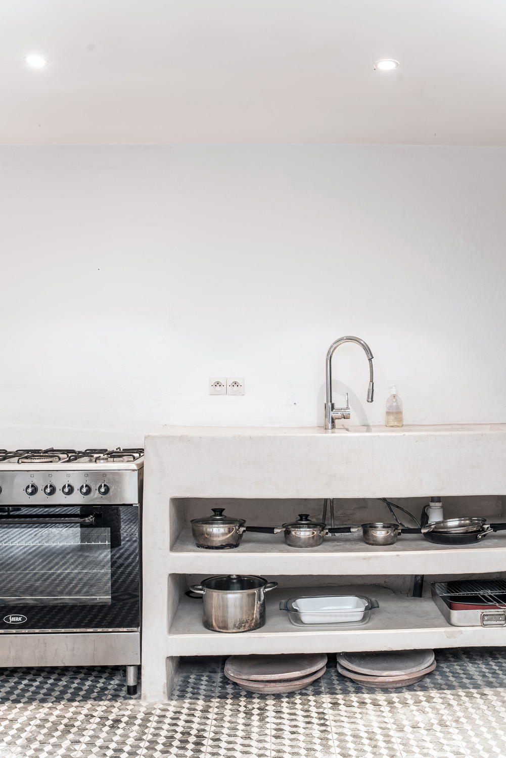 Kitchen with oven and sink