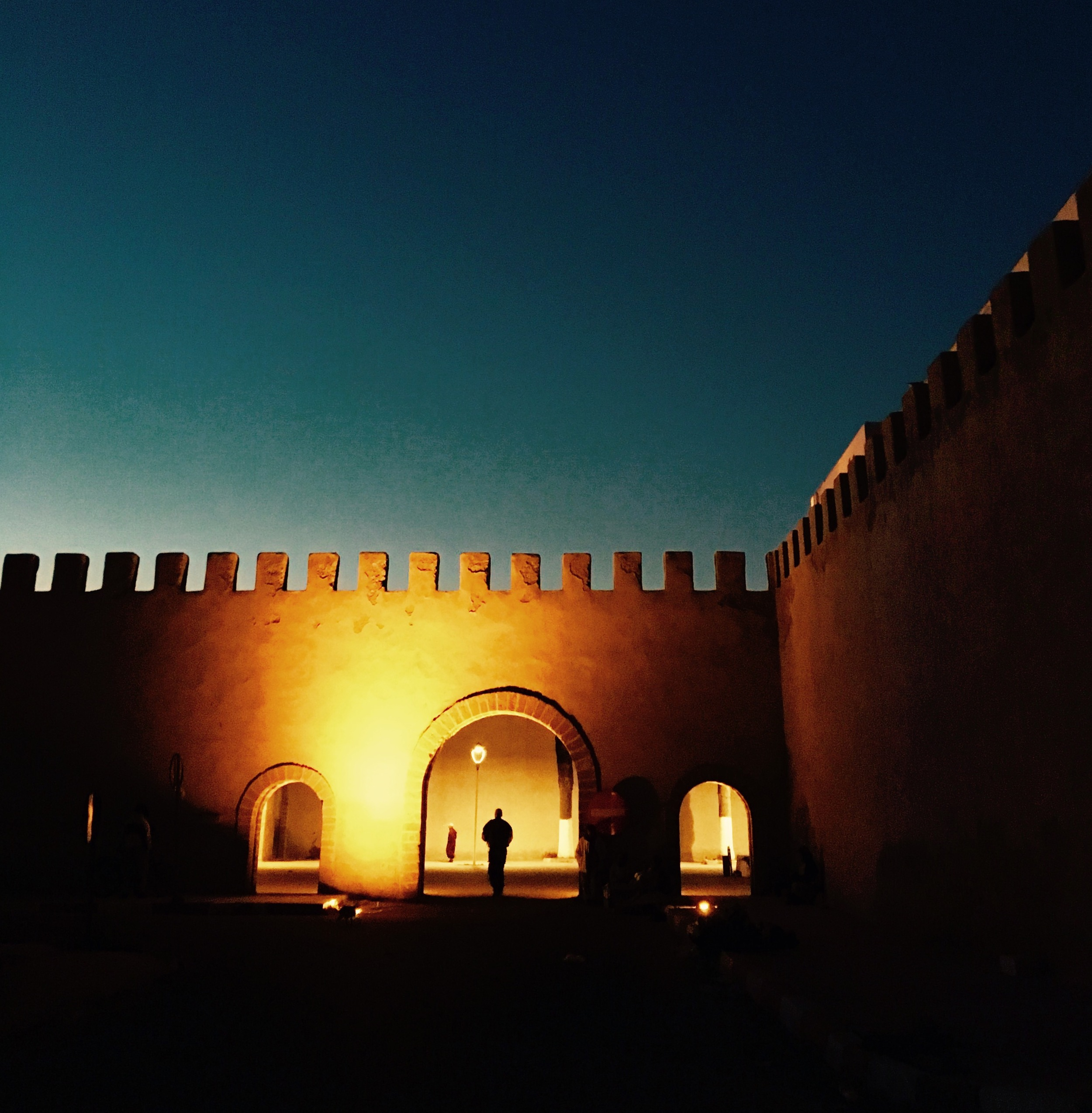 Sunset view over the medina wall