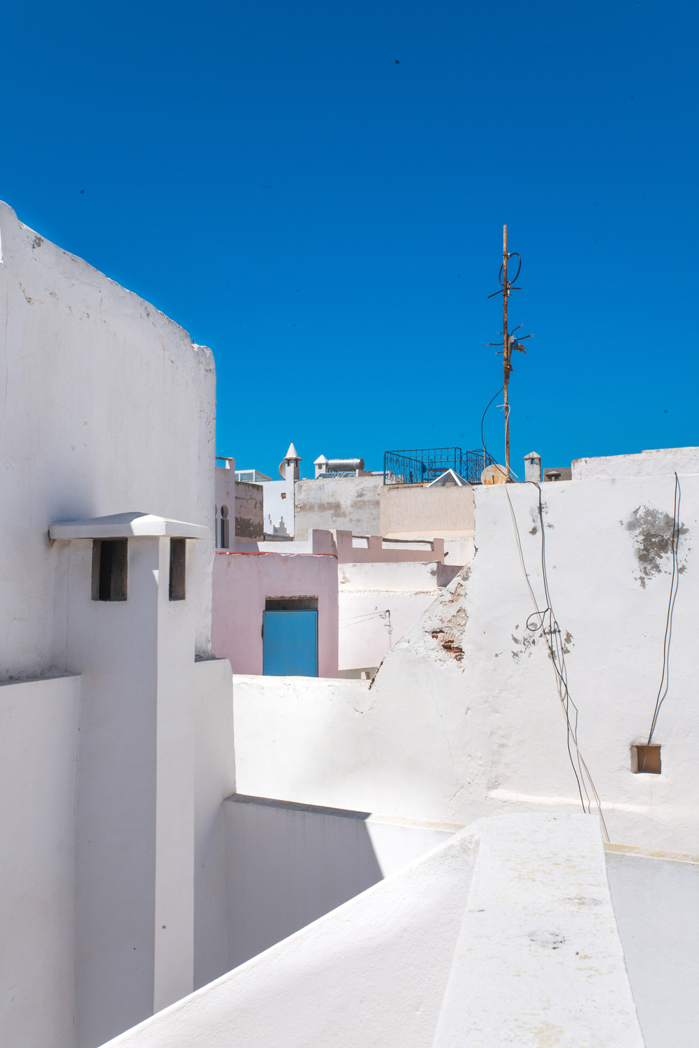 rooftop view from terrace over medina houses