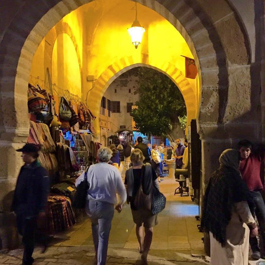 Bustling streets of Essaouira Medina